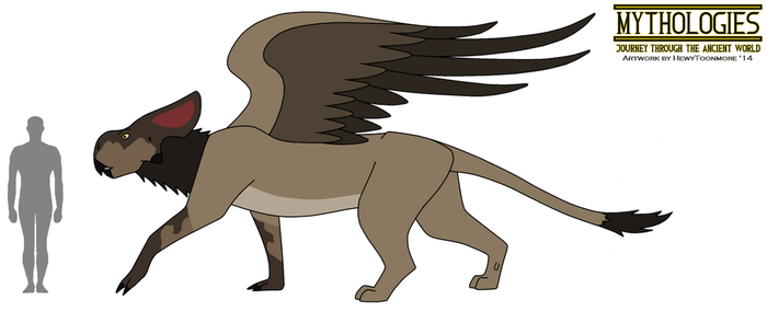 Mythologies - Female Greek Griffin 2014 by HewyToonmore