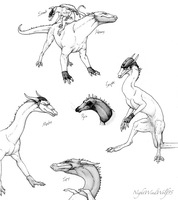 Some TF2 Dragons by nightwindwolf95