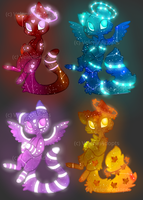 [CLOSED] Glowy Galaxy Cats 70 points by VelenieAdopts