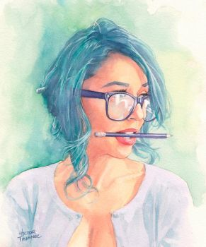 Tianna watercolor by Trunnec