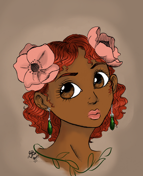 My floral girl by Untraceablemystic