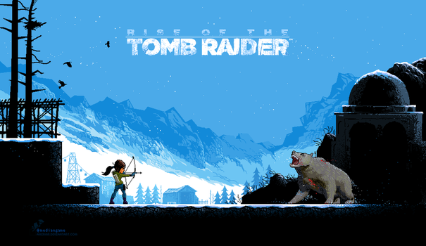 Tomb Raider PixelArt by amirmr