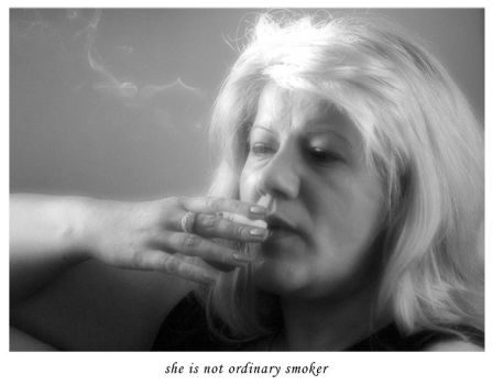 she is not ordinary smoker by ornela