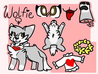 + Wolfie Ref 2018 + by GreyHeartPaws1