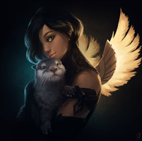 Guild Wars 2 Portrait Commissions - Otter! by jylgeartooth