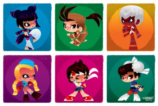 Lil ladies of Street Fighter by KWESTONE