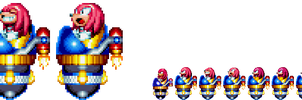 Sonic Triple Trouble Knuckles boss - Mania styled by Xyroneriz