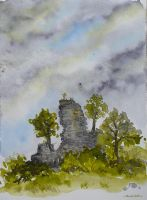 Ruins of a castle by GwilymG