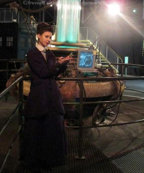 Missy cosplay - Messing with the Doctor's TARDIS I by ArwendeLuhtiene
