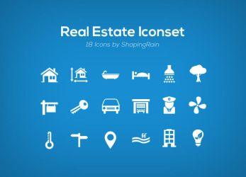 Real Estate Iconset by NilsHuber