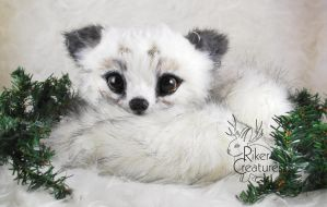 - Fantasy Arctic Fox - Poseable Art-Doll Creature by RikerCreatures