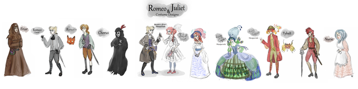 Romeo and Juliet Costume Designs by Warriorseyes