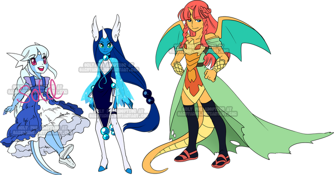 PokeGijinka Adoptables3 by Sakuyamon