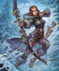 Hunter with a huge bow by Igor-Grechanyi