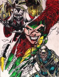 marc silvestri and jim lee wildcats and ripclaw by shinichizen