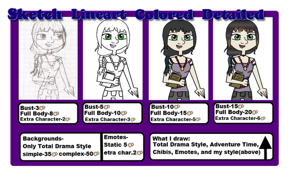 cheap commisions prices by tdi-luver4ever