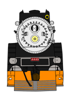 Southern Pacific 4449 Front View by RailToonBronyfan3751