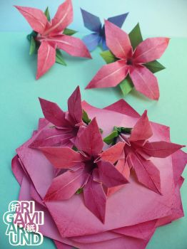 Painted lilies 001 by OrigamiAround