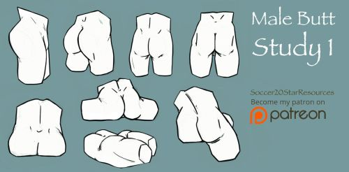 Male Butt Study 1 by CourtneysConcepts