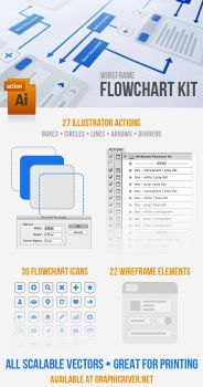 Wireframe Flowchart Kit by kevinhamil