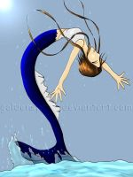 Jumping Mermaid in color by goldenspines