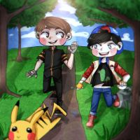 Dan and Phil caught Pikachu! by AnnKrriss
