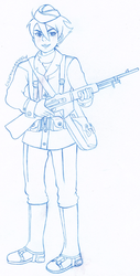Commission: Historyman101: AU Dominic (Pencils) by colormymemory