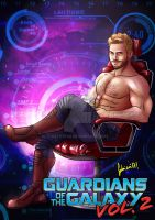 starlord guardians of the galaxy vol2 Shirtless by ArtByFab
