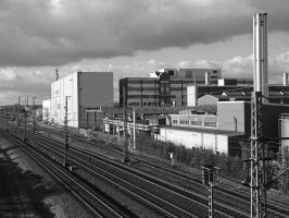Factory and railway by UdoChristmann