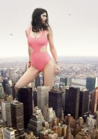 Alexandra Daddario visits New York by docop