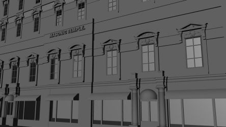 3D Model of Masonic Temple in Washington DC by OLDDOGG