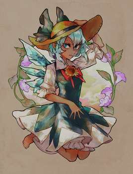Tanned Cirno by Arlmuffin