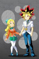 commission : Haley and Yami yugi by pink-hudy