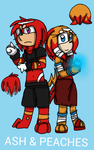 Ash And Peaches the Echidna's by DragonQueensLair