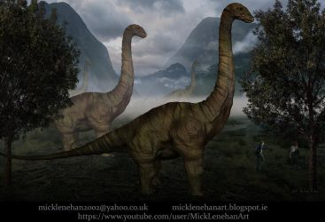 Long Neck Dinosaurs(timelapse in description) by Mick2006