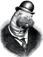 19th. Century Walrus by OddManOutPress
