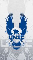 UNSC Blue iPhone 5 Wallpaper by EchoLeader