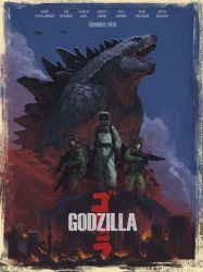 Godzilla Poster by EdwardDelandreArt