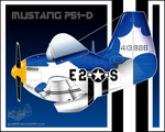 WWII 1ra Serie - Mustang P51 by geoBRS