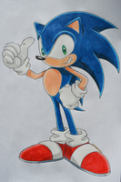 Sonic the Hedgehog by M-art-ique
