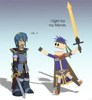Marth and Ike by SootToon