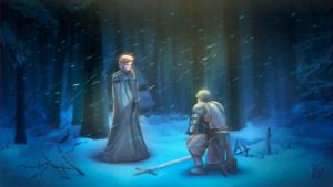 Sansa and Brienne by Kao-Valer