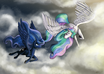 Flying by Twilight by TheKuto