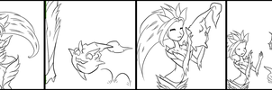 Color Your Own League Comic by CloverWing