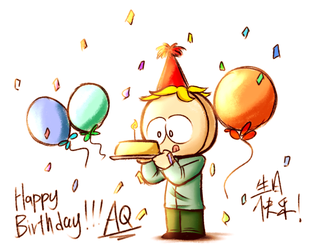 Happy birthday butters by aq1218