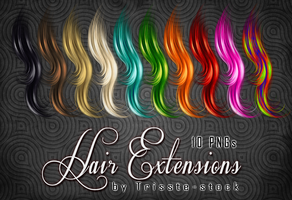 Hair extensions stock by Trisste-stocks