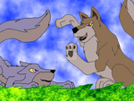 Aleu and Kay playing in the... by BahatiUpendo