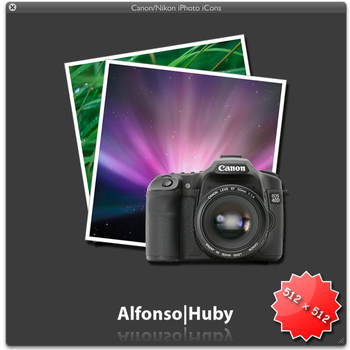 Canon and Nikon iPhoto iCons by alfonsohuby