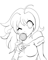Lollipop Lineart by Sakukko