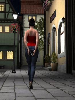 R-World:  Taylor Walking Home by DonKevinMartin